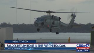 Sailors return home just in time for the holidays