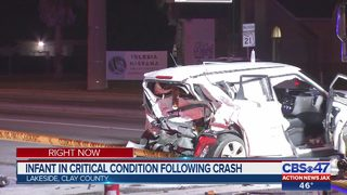 6 patients, including infant, in hospital after serious crash in Clay County