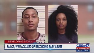 Active duty sailor, wife facing child cruelty charge for alleged abuse to 7-month-old