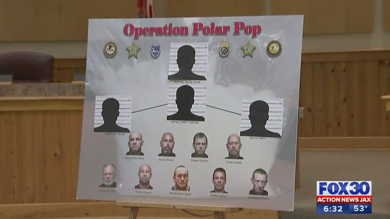 Operation Polar Pop leads to 13 arrests, 20 lbs of crystal