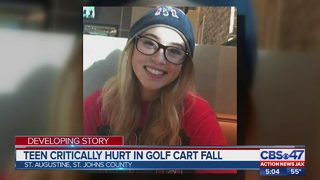 St. Augustine teen critically hurt in golf cart fall