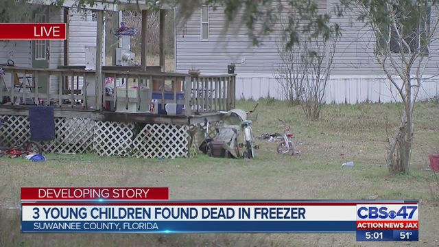 Three children found unresponsive in a freezer have died