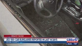 Over 100 cars burglarized in 2 weeks in Jacksonville