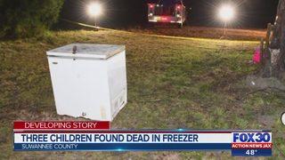Three children found unresponsive in a freezer have died, according to deputies