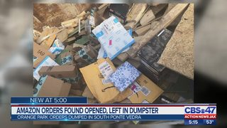 Stolen Amazon packages found in dumpster, third party delivery driver suspended during investigation