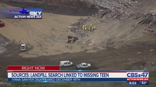 Sources: Landfill search linked to missing teen