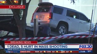 SUV that dropped off 6 people shot at Jacksonville hospital