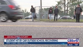 Jacksonville student recovering after being hit by a car near First Coast High School