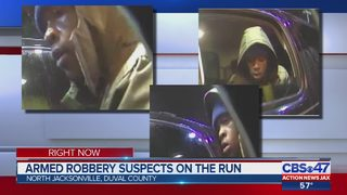 Armed robbery suspect 'shoved the gun to the left side of my face, victim says