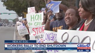 Jacksonville federal workers, supporters call for end to shutdown
