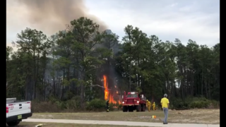 Woods fire near residential area in Middleburg