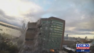 Implosion shatters windows in downtown Jacksonville