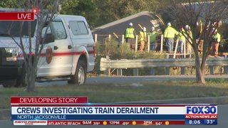 Investigation underway after Jacksonville train derailment; cleanup could take days, crews say