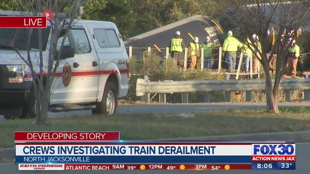 Jacksonville train derailment: Cleanup could take days