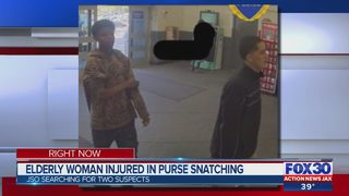 Elderly woman injured in purse snatching