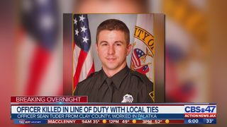 Officer from Clay County killed in line of duty in Alabama