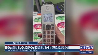 Scammers spoofing local numbers to steal information