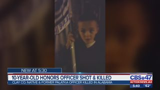 Florida 10-year-old honors fallen Officer Sean Tuder in special way