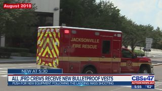 Jacksonville firefighters receive bullet resistant vests