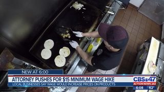Attorney pushes for $15 minimum wage hike