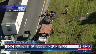 Good Samaritans rescued woman from under truck