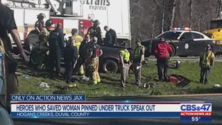 Heroes who saved woman pinned under truck speak out