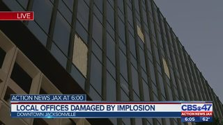 Local offices damaged by implosion