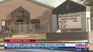 13-year-old arrested for school shooting threat