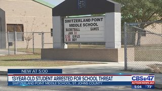 13-year-old student arrested for school threat
