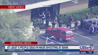 At least 5 people dead in mass shooting at bank