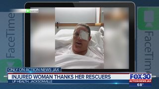 Jacksonville woman, injured after being pinned by truck, thanks good Samaritans who saved her