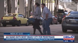 Jacksonville ranks sixth most deadly city for pedestrians