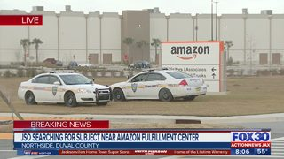 Police search for subject near Amazon Fulfillment Center