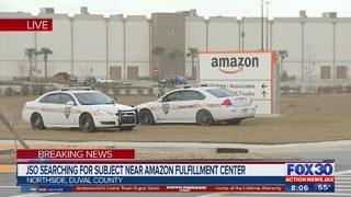 Police search for subject near Amazon Fulfillment Center