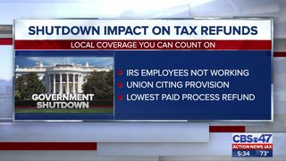 Shutdown impacts on tax refunds