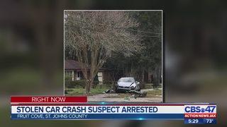 Stolen car crash suspect arrested