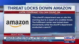 Threat locks down Amazon