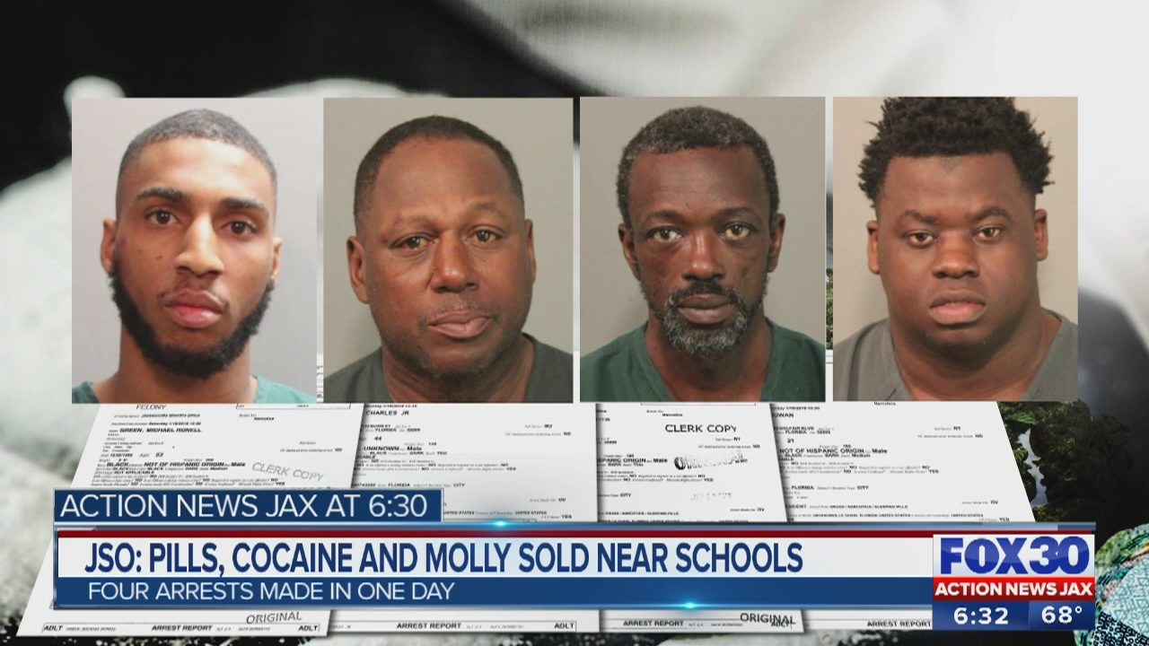 JSO arrests 4 men accused of selling drugs near 3 local