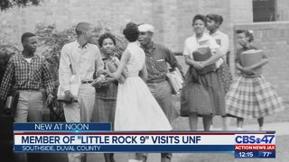 Little Rock Nine civil rights icon visits UNF