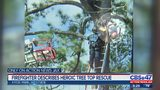 Firefighters describe heroic tree top rescue
