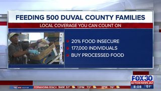 Mobile Food Pantry feeding 500 families in Duval County