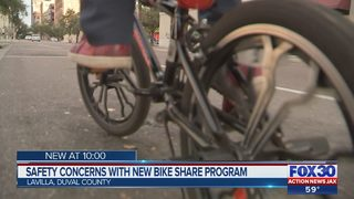 Safety concerns with new bike share program