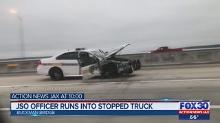 JSO officer hits stopped truck