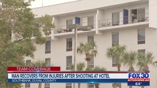 Man recovers from injuries after shooting at hotel