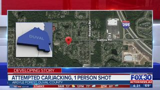 Attempted carjacking, 1 person shot
