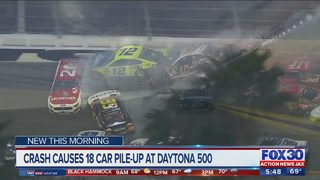 Crash causes 18 car pile-up at Daytona 500