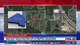 Jacksonville man shot in front of own home during attempted carjacking, police say