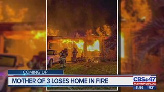 Mother of three loses Jacksonville home in fire