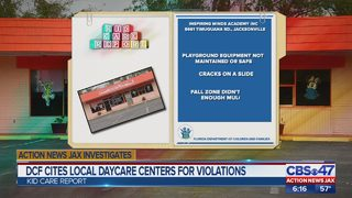 Action News Jax Investigates: DCF cites Jacksonville area daycare centers for violations