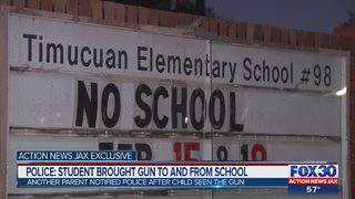 Police: Student brought gun to and from Jacksonville area school